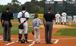 National Anthem in Charleston, SC. Royalty Free Stock Images
