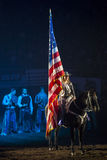 National Anthem Moment. National Anthem during the Denver Stock Show in 2014 Royalty Free Stock Photo