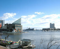 National Aquarium. View of the Baltimore Harbor and the National Aquarium Stock Photography