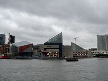 National Aquarium building along Baltimore Inner Harbor Chesapeake Bay royalty free stock photography