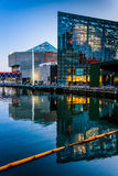 The National Aquarium at twilight, at the Inner Harbor in Baltim Royalty Free Stock Photo