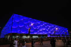 The National Aquatics Center in beijing Stock Photos