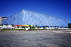 National Aquatics Center- Water Cube in Beijing Stock Photo