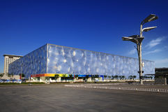 National Aquatics Center- Water Cube in Beijing Royalty Free Stock Photography