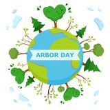 National Arbor Day concept. With an inscription. National Arbor Day Vector Illustration. For Greeting Card, Flyer, Poster and Banner vector illustration