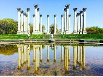 National arboretum. Old site of Capitol stock images