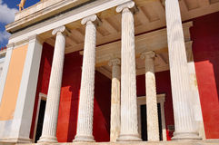 National Archaeological Museum in Athens , Greece. Colonnade at Royalty Free Stock Images