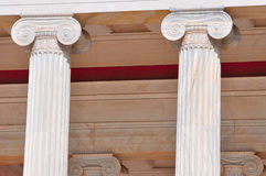National Archaeological Museum in Athens , Greece . Columns at t Stock Photography