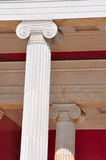National Archaeological Museum in Athens , Greece . Columns at t Stock Images