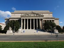National Archives. A sunny morning at the National Archives Building in Washington DC Stock Photos