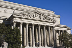 National Archives Building. United States archives building captured on sunny day royalty free stock image