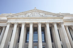National Archives building in Washington DC. Facade of the National Archives building in Washington DC stock images