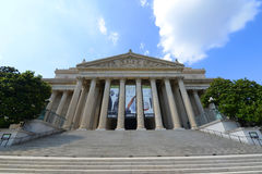 National Archives Building in Washington DC, USA. WASHINGTON DC - JUN 22, 2014: National Archives and Records Administration front facade in Washington DC, USA stock photography