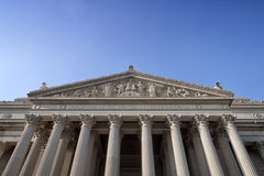 National Archives Facade. The facade of the National Archives in Washington DC Royalty Free Stock Image