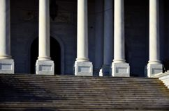 National Archives of United States. Washington DC building with columns and stairs Royalty Free Stock Images