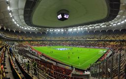 National Arena in Bucharest before Romania-Denmark friendly match Royalty Free Stock Photography