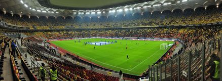 National Arena in Bucharest before Romania-Denmark friendly match Stock Image