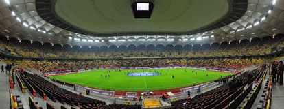 National Arena in Bucharest before Romania-Denmark friendly match Stock Photo