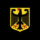 National arms of Germany. Logo on a black background Stock Photography