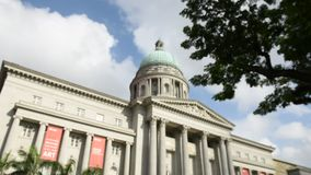 National Art Gallery with blue skies stock video footage