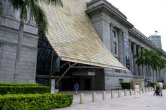 National Art Gallery Singapore Main Entrance Royalty Free Stock Photography
