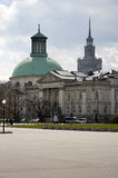 National Art Gallery in Warsaw with Church Royalty Free Stock Photography