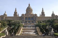 National Art Museum. Barcelona. Catalonia. Spain Royalty Free Stock Photos