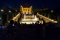The National Art Museum in Barcelona at night Royalty Free Stock Photos