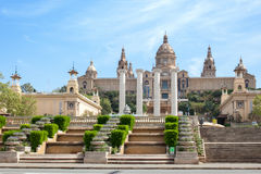 National Art Museum in Barcelona, stock images