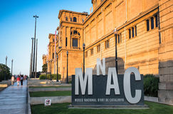 National Art Museum of Catalonia  Barcelona Royalty Free Stock Images