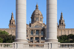 National Art Museum of Catalonia in Barcelona Stock Photography