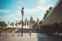 National Art Museum of Catalonia in Barcelona, Spain. Royalty Free Stock Image