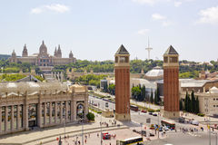 National Art Museum of Catalonia in Barcelona, Spain Royalty Free Stock Photos