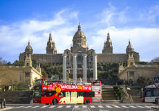 National Art Museum of Catalonia, Barcelona, Spain. The National museum of Catalan visual art situated on Montjuïc hill at the end of Avinguda de la Reina Maria Stock Photo