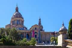National art museum of catalonia in the city of barcelona Royalty Free Stock Photo