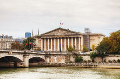 National Assembly building in Paris. National Assembly (Assemblee Nationale) building in Paris, France royalty free stock image