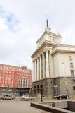 National Assembly of Bulgaria. SOFIA, BULGARIA - CIRCA OCTOBER 2013 - National Assembly of Bulgaria. Socialist classicism architecture Stock Photos