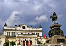 National Assembly Square in Sofia, Bulgaria Royalty Free Stock Photography