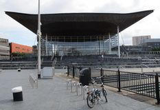 National Assembly for Wales. Cardiff Bay stock photos