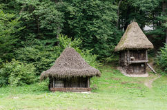 National Astra Museum in Sibiu - Old traditional house ( many styles and forms ) Stock Photos