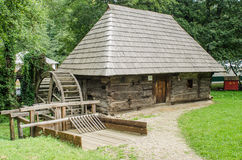 National Astra Museum in Sibiu - Old wood watermill Stock Image