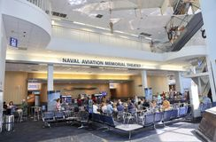 National Aviation Memorial Theater Pensacola, Florida. People dine at the Naval Aviation Memorial Theater in the Naval Aviation Museum, Pensacola, Florida Stock Photography