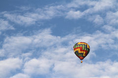 National Balloon Classic. Indianola, IA, USA - Aug. 2, 2016 - A hot air balloon floats above Indianola, Iowa, during the National Balloon Classic on July 30 stock photography