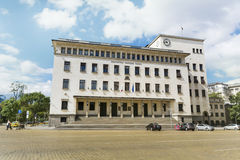 National Bank της πλατείας της Βουλγαρίας και Battenberg Στοκ φωτογραφία με δικαίωμα ελεύθερης χρήσης