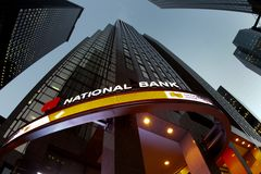 National Bank. Branch in a skyscraper in Toronto's financial district Stock Photos