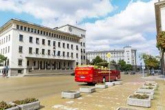 National Bank Bułgaria i Battenberg kwadrat Obrazy Stock