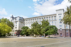 National Bank of Bulgaria and Battenberg Square Royalty Free Stock Images