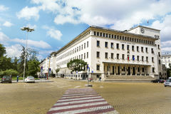 National Bank of Bulgaria and Battenberg Square Royalty Free Stock Photography