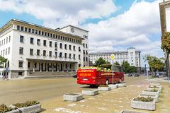 National Bank of Bulgaria and Battenberg Square Stock Images