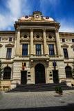 National Bank da fachada da construção de Romênia, Bucareste, Romênia Foto de Stock Royalty Free
